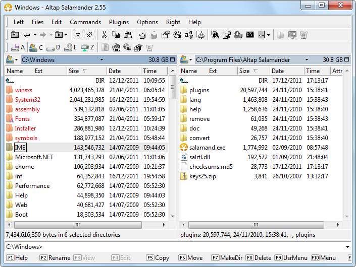 Show size of directories in Altap Salamander
