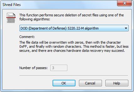 SDelete securely deletes files conforming to DOD 52222-M sanitizing standard
