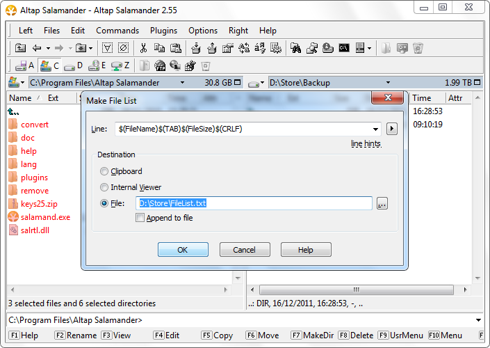 List Files in Directory, Make Directory File List, List
