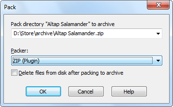 Open, View, Extract, Create the ZIP file and archives