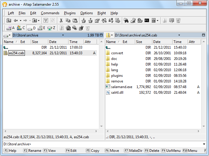 Open, browse, view, extract, unzip Microsoft CAB (cabinet) files ...