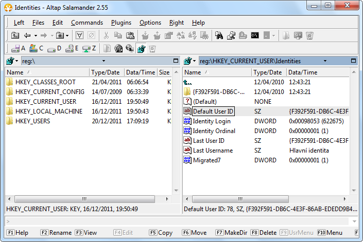 Windows Registry Editor Utility: View, Browse, Edit, Search Registry ... Registry editor plugin for Altap Salamander