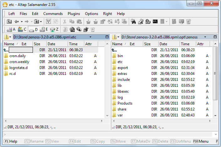 Open RPM archive, RPM Viewer, RPM Browser, and RPM Extractor