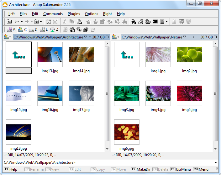 Thumbnail Images, display photo thumbnails for pictures or