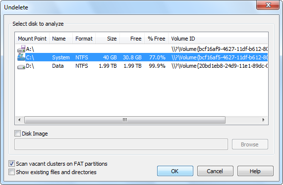 Undelete deleted files with Altap Salamander