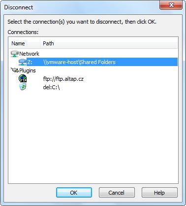 Disconnect Windows Altap Salamander File Manager